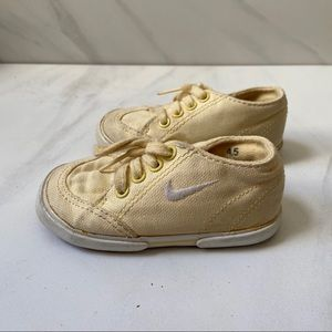 Vintage Pale Yellow Infant Nikes Size 4.5